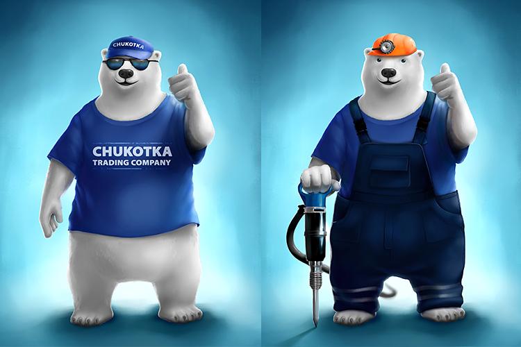 Логунова Анна: «Корпоративный персонаж для компании Chukotka Traiding Company»