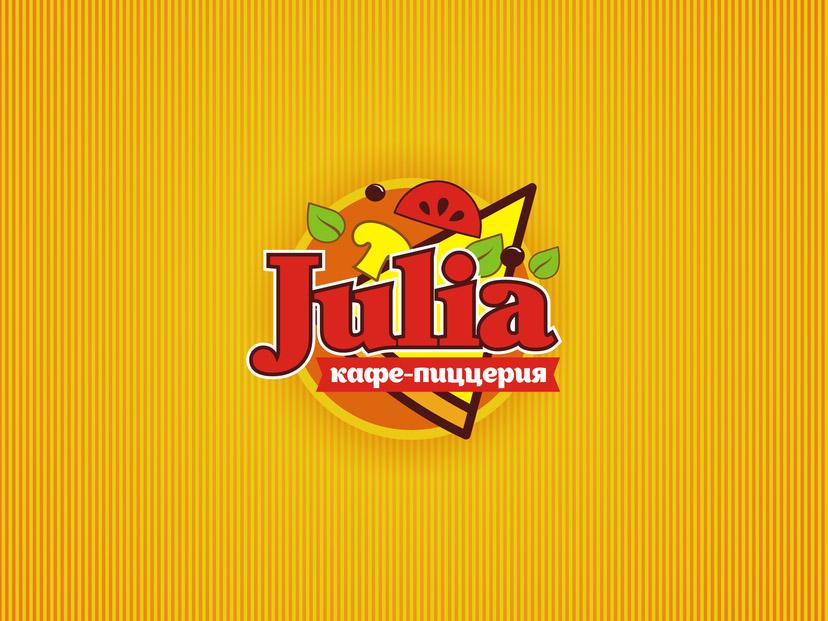 "Логотип, фирменный стиль кафе-пиццерии ""JULIA"""