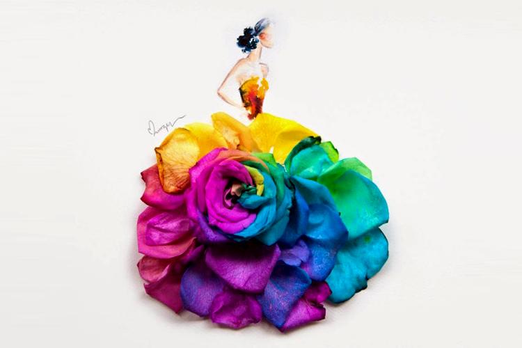 Цветочные наряды Лимзи Вэй