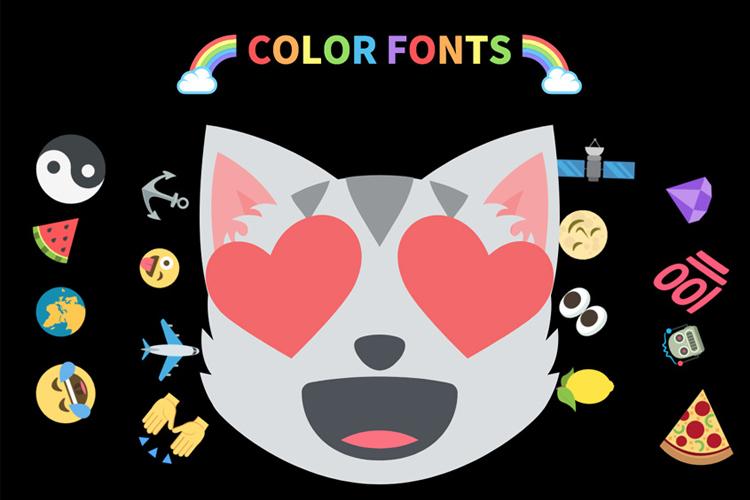 Что такое цветные шрифты?