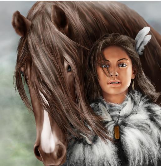 Вероника Новикова: Индейская девочка с лошадью