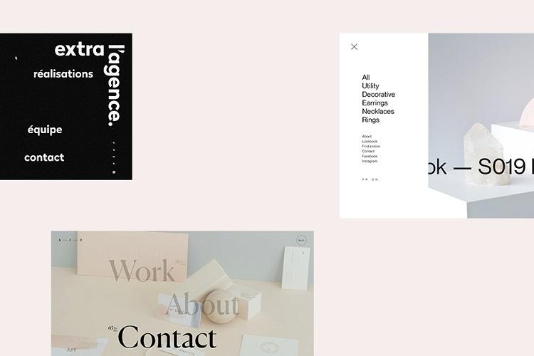 17 захватывающих примеров скрытых меню в веб-дизайне